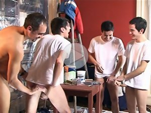 FLASH !!! Some funny episodes from a hot gay painting orgy