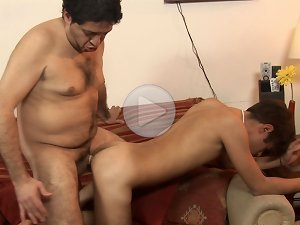FLASH !!! After a great deal of sucking the twink slut stuck out his ass for penetration and moaned as his lover worked his ass